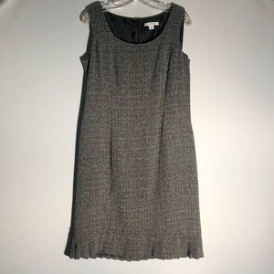 Grey Dress with Accordion Trim O3